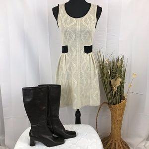Monteau Cream Sleeveless Dress